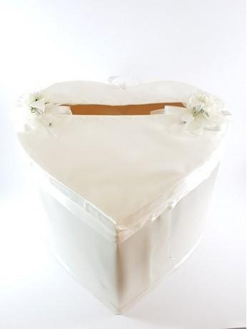 В бяло украсена кутия за пари модел 1