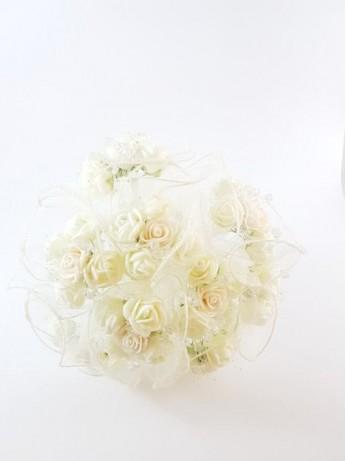 Великолепен сватбен букет за хвърляне модел 9