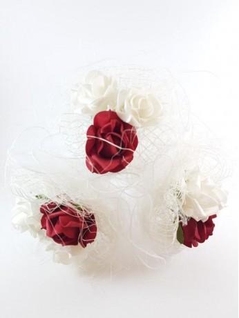 Нежен сватбен букет за хвърляне модел 19