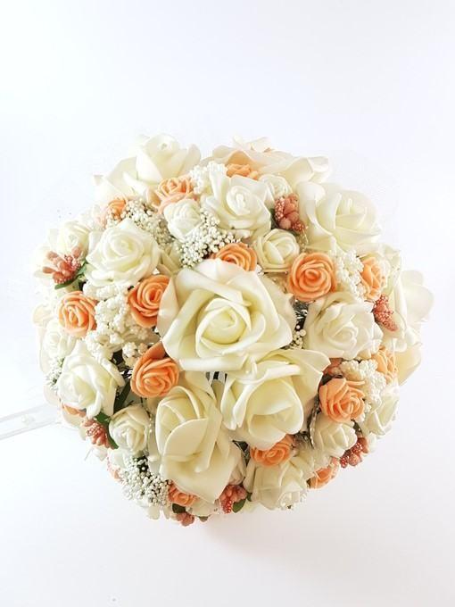 Сватбен букет рози 14