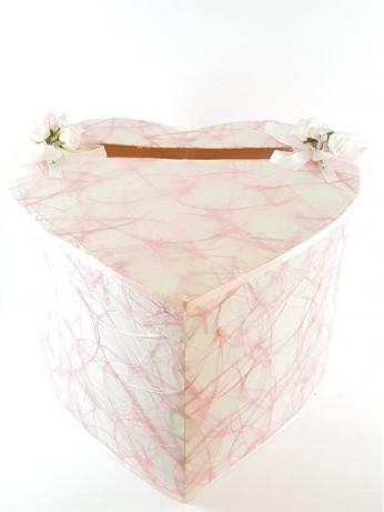 Кутия за пари с розова мрежа