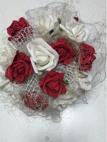 Сватбен букет - Изкушение в червено