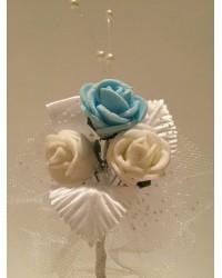 Лукс бутониера със синя роза