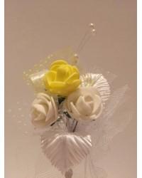 Лукс бутониера с жълта роза