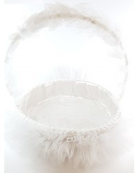 Стилна бяла кошница
