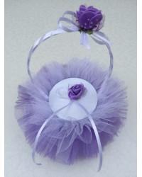 Кошничка за халки в лилаво