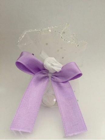 Торбичка за подарък с лилав галон