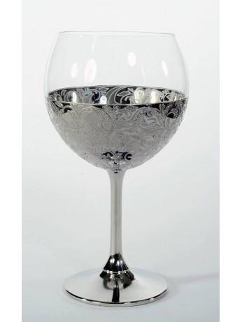 Сватбен бокал със сребристо покритие