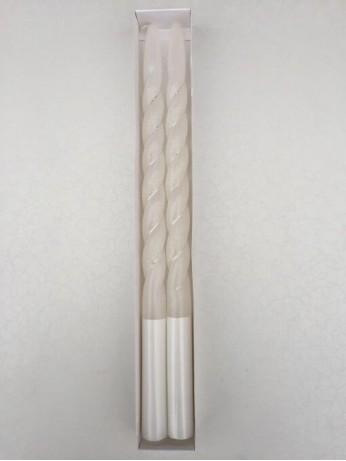 Нежни сребристи ритуални свещи 2 броя в комплект