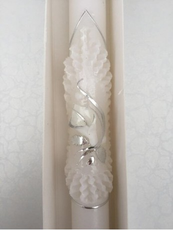 Сватбени свещи с цвете Калия