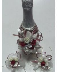 Украсено шампанско в бордо