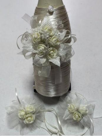 Украсено сватбено шампанско