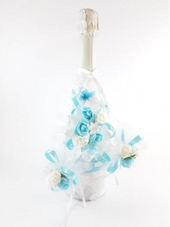 Прекрасен сватбен комплект с шампанско модел 10