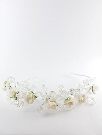 Венче с бели рози