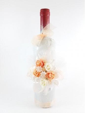 Вино с рози в прасковен цвят
